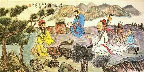 陈国华-品茗图-淘宝-名人字画-中国书画服务中心,中国
